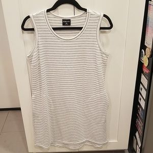32 Degrees Cool White and Grey Tank Dress